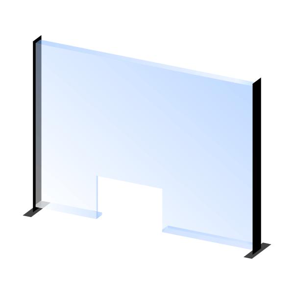 Zaštitna barijera od pleksiglasa s nosačom